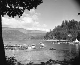 [Views of boats in] Deep Cove [harbour]