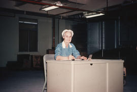 Vi Dewar at foreman's desk
