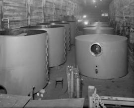 Body sections, and catchalls for Taber pans as fabricated in Vancouver Refinery shops