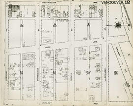 Plan of Vancouver, 1889 [fire map] : [Railway Street to Westminster Avenue to Hastings Street to ...