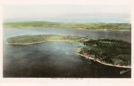 Aerial view of Alert Bay, B.C.