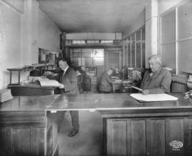 Front office, Cowan and Brookhouse [Printing and Publishing], Labor Temple [411 Dunsmuir Street]