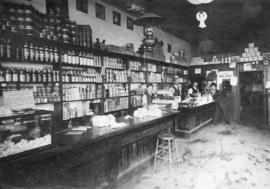 [Interior of John Archibald MacMillan's grocery store and post office at the corner of Lonsd...