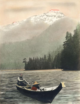 The Return at Sundown - Tyee Wa-He-No with his wife