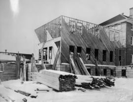 [A wing of the Provincial Mental Hospital during construction]