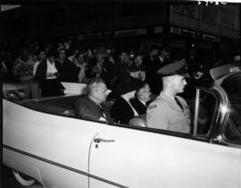 Canadian Prime Minister J.G. Diefenbaker and P.N.E. President J.F. Brown in 1959 P.N.E. Opening D...