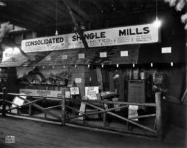 Consolidated Shingle Mills of B.C. display of shingle products