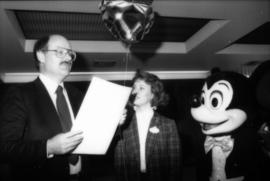 Mike Harcourt, Karen Neveu and Mickey Mouse