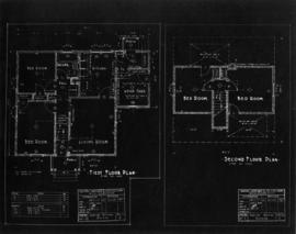 Plans of first and second floor of bungalow
