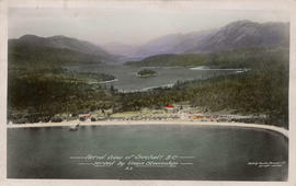 Aerial View of Sechelt, B.C. served by Union Steamships