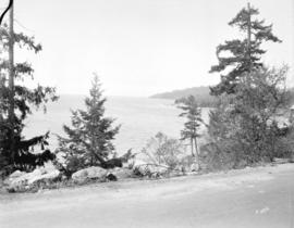 [View of Sherman and Sandy Cove, West Vancouver, looking towards Point Atkinson]