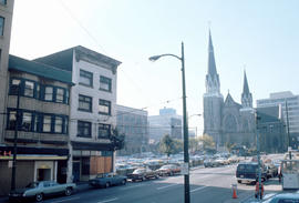 [View of the Holy Rosary Cathedral at 646 Richards Street]