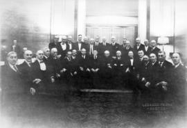 [Thirty-one surviving members of those who voted at the first civic election in the Oval Room of ...