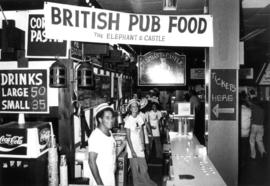 The Elephant and Castle British pub food booth