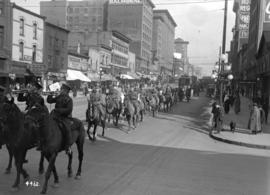 68th C.F.A. parade [along the 100 Block of East Hastings Street]