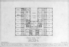 Proposed hotel building, Trail B.C. : typical floor plan