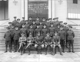 Officer Commanding and Orderly Room staff - 1st Depot Battalion B.C.R. Dec. 6, 1918
