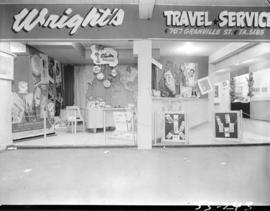 Wright's Travel Service display
