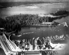 Aerial view [of Coal Harbour] taken about 1924