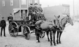 Vancouver Fire Department Wagon No. 4 and team
