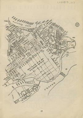Sectional map and street directory of Vancouver : [Brunette Road to Avalon Avenue to Griffiths Ro...