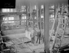 Powerhouse construction - view of interior construction