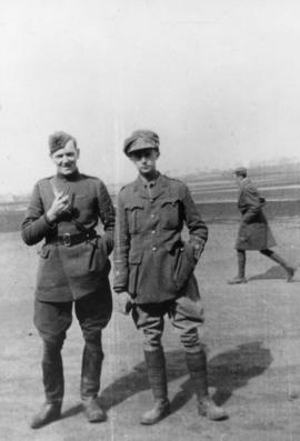 Mick and his observer Hastings Boles of No. 1 Squadron