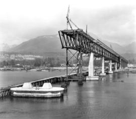 No. 14 [Second Narrows bridge construction showing] False work Pier #4