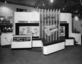 Canada Packers' display of Margene butter substitute and York canned meats