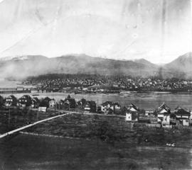 [Northern view of Fairview from the tower of King Edward High School on 12th Avenue and Oak Street]