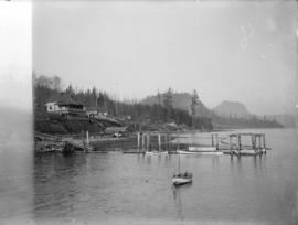 [Dock built by James Chaster, and house built by Joe Boyd, Gibson's Landing]