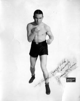 Portrait of boxer Jimmy McLarnin