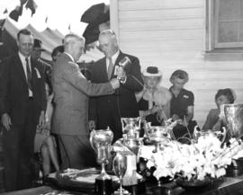 Lieutenant Governor W.C. Woodward and V.E.A. President M. Bowell at Boys' and Girls' De...