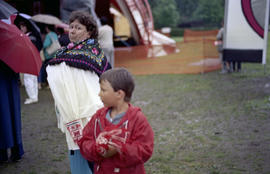 Unidentified woman and boy at Canada Day celebration