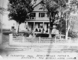 Family home about 1860: Samuel Rogers, father of B.T. [Benjamin Tingley]