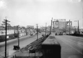 Taken for Duker and Shaw Billboards Ltd. [Granville Street from north end of Granville Street Bri...