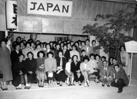 Group portrait at Japanese Tea House exhibit