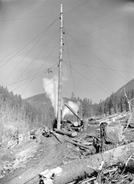 [Logging equipment at Youbou, B.C.]