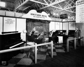 Switzer Bros. display of pianos