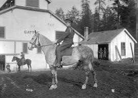 58th C.F.A. [Exhibition grounds] [soldier on horseback]