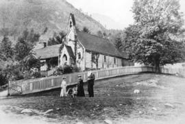 [Exterior of  St. John's Church and rectory]