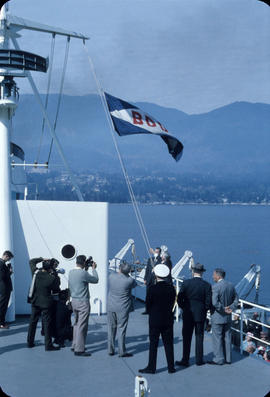 City of Vancouver Acceptance, Lowering B.D.D. flag