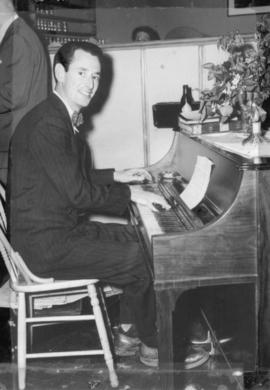 Basil Hunter, piano at the Alhambra Club on Cornwall St., Vanc., 1948