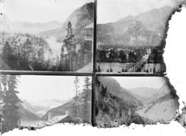 [View of Bow River from Banff Hotel Bridge over Bow River Lake Louise* Fraser Canyon with Cisco B...