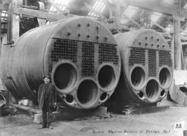 Scotch marine boilers of dredge no. 1