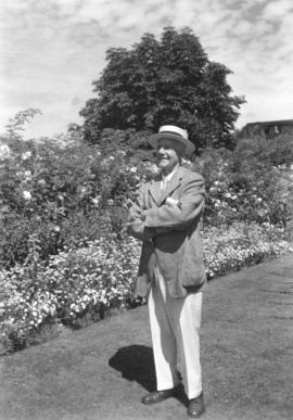 [A.P. Horne, Esq. in his garden]