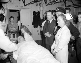 [Blood donor clinic aboard the H.M.C.S. Warrior]
