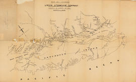 Map no. 1 shewing Union Steamship Company route and ports of call : lower run