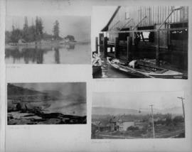 Deadman's Island, West End, salmon catch and interior of cannery