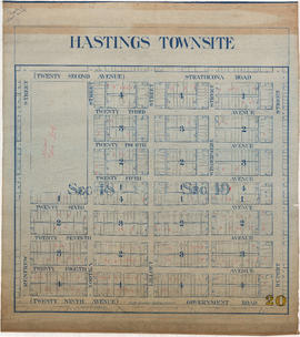 Hastings Townsite : Renfrew Street to Rupert Street and Strathcona Road (22nd Avenue) to Governme...